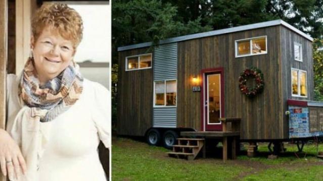 Kira Ödemekten Sıkılan Kadının İnşa Ettiği 18 Metrekarelik Evi Görünce Büyüleneceksiniz