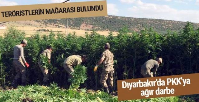 Diyarbakır'da büyük operasyon PKK'nın mağarası bulundu