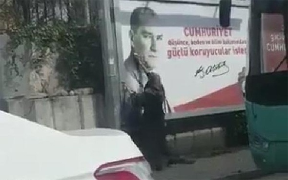 Atatürk fotoğrafını temizledi: Sosyal medyayı salladı!