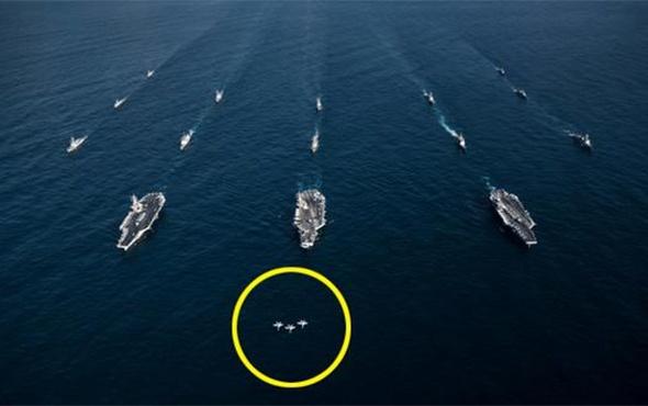 Amerikan donanması savaş düzenine geçti!