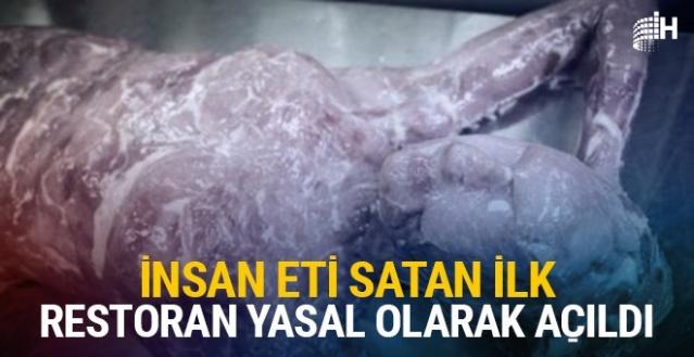 Sonunda bu da oldu insan eti satan ilk restoran açıldı