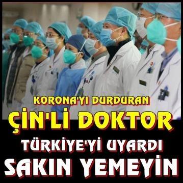 Çinde v'irüsü durduran doktor Türkleri Uyardı.Bunları yemeyin dediği yiyecekler b'akın ne çıktı