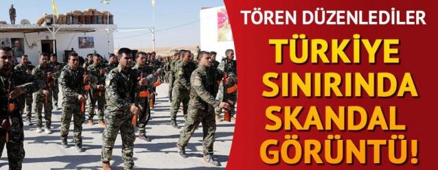 Türkiye sınırında skandal tören!