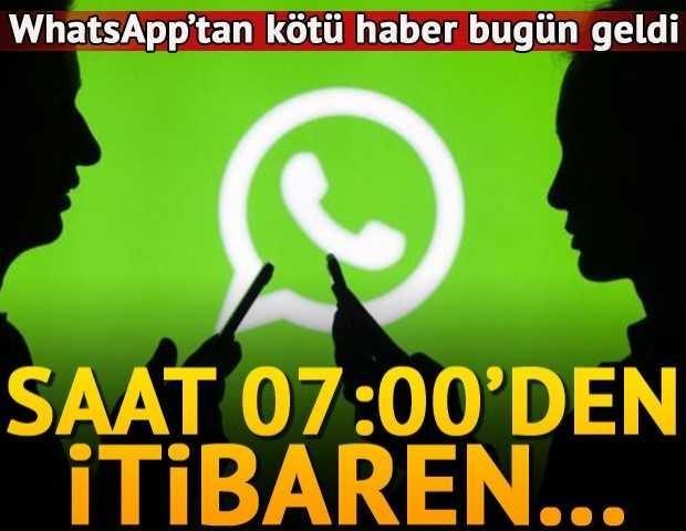 Whatsapp kullanıcılarına kötü haber geldi:iPhone'da Whatsapp artık çalışmayacak!