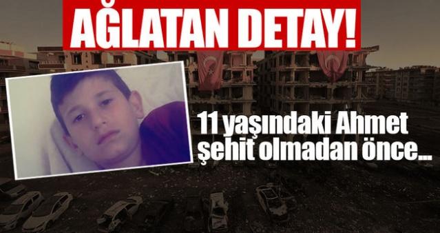 Şanlıurfa'daki Saldırıda AĞLATAN DETAY! 11 Yaşındaki Ahmet Şehit Olmadan Önce...