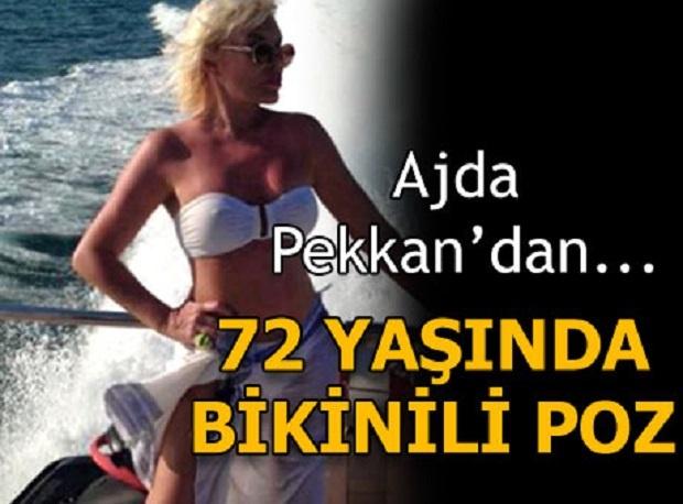 Ajda Pekkan'ın tatil pozları olay oldu.72 yaşında bikinili poz
