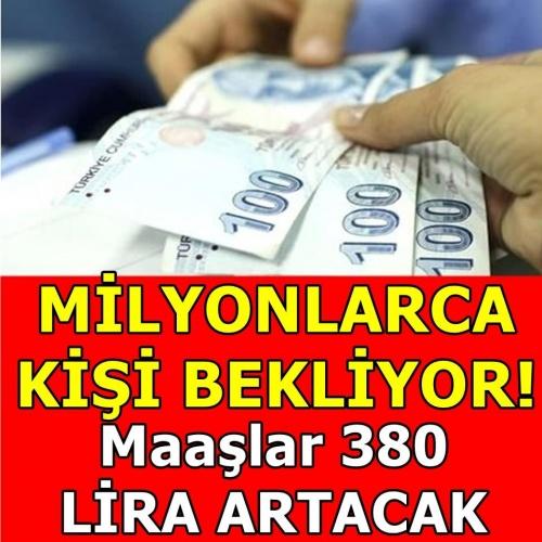 380 lira ek ödeme geliyor