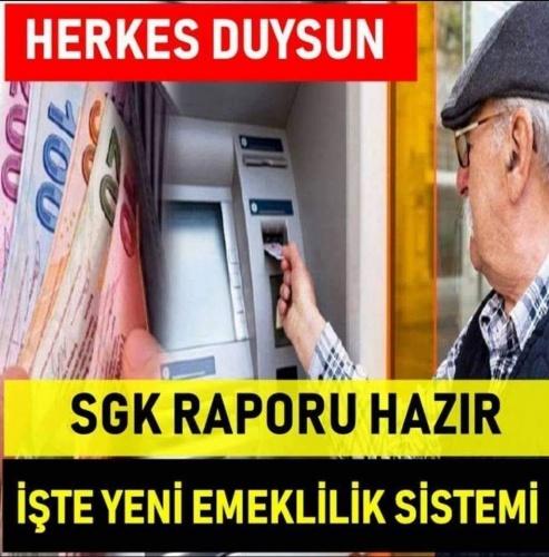 SGK raporuz hazır! Yeni emeklilik sistemi geliyor
