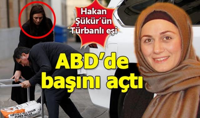 FETÖ'cü Hakan Şükür'ün türbanlı eşi, ABD'de başını açtı !!! şok görüntüler