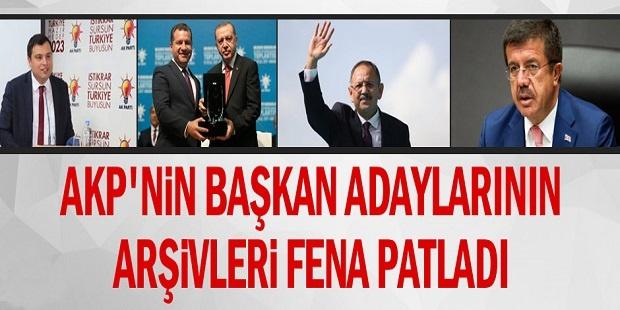 AKP'nin başkan adaylarının arşivleri fena patladı