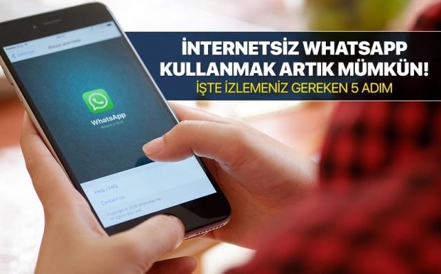 5 işlemde internetsiz WhatsApp kullanmak artık mümkün!