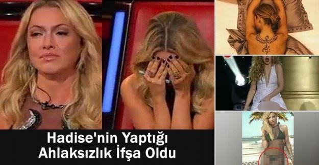 Hadise'nin yaptığı ahlaksızlık ortaya çıkınca nasıl kaçacağını şaşırdı!