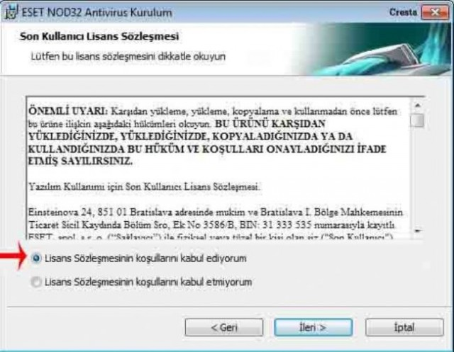 15hnd5w - Eset NOD-32 Anti Virus Business Edition 3.0.669.0 Türkçe Orj S