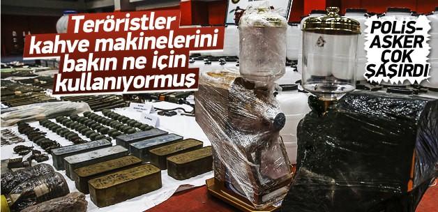 SUR'DA PKK'NIN CEPHANELİĞİ ELE GEÇİRİLDİ,KAHVE MAKİNASINI BAKIN NE İÇİN KULLANIYORLARMIŞ !