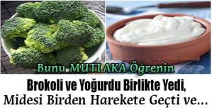 Brokoli ve Yoğurdu Birlikte Yedi, Midesi Birden Harekete Geçti ve… Bunu MUTLAKA Öğrenin