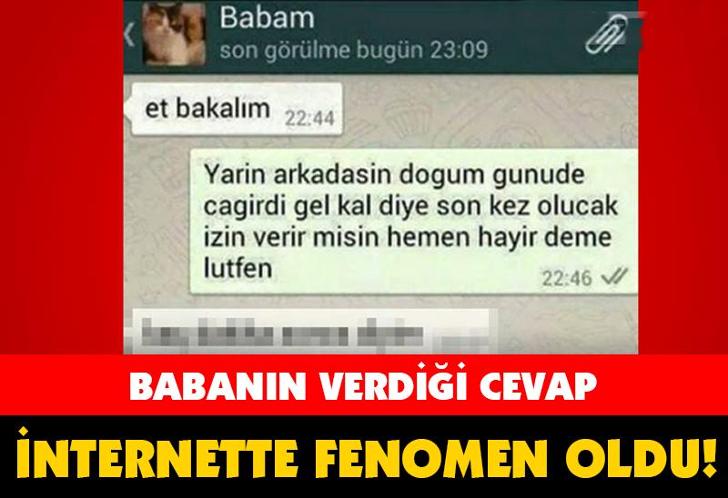 BABANIN VERDİĞİ CEVAP İNTERNETTE FENOMEN OLDU!