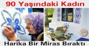 90 Yaşındaki Kadın Ölmeden Önce Köyünü Bakın Nasıl Cennete Çevirdi