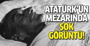 Atatürk'ün mezarında şoke eden görüntü!