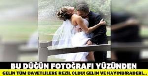 GELİNİN DÜĞÜNDEN KALAN BU FOTOĞRAFLARI REZİL OLMASINA SEBEP OLDU!