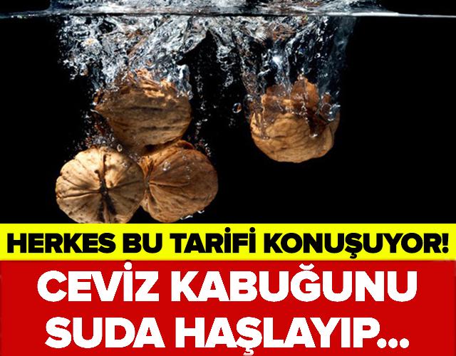 HERKES BU TARİFİ KONUŞUYOR! CEVİZ KABUĞUNU SUDA HAŞLAYIP...