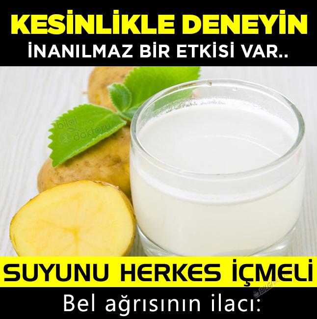 Bel ağrısının ilacı: Patates suyu