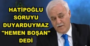 """Nihat Hatipoğlu, İzleyicinin Sorusunu Duyar Duymaz """"HEMEN BOŞAN"""" Dedi."""