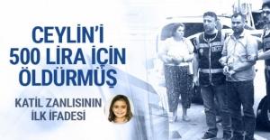Katil zanlısının ilk ifadesi Ceylin'i 500 lira için öldürmüş