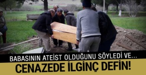 Ateist vatandaş tıraş takımı ile gömüldü! bakın daha neler var!