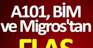 A101, Bim ve Migros'tan Gelen Açıklama