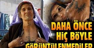 'Türkiye'nin dövmeli kadınları'  Güneş, Ay veya Tarak gibi imgeleri bedenlerine işliyor.