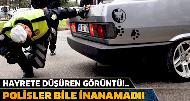 POLİSLER BİLE İNANAMADI! HERKESİ HAYRETE DÜŞÜREN O GÖRÜNTÜ!