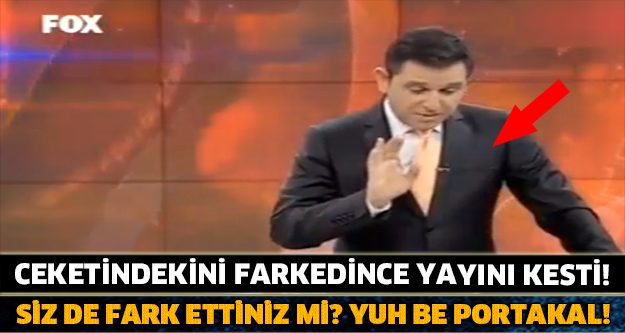 SİZ DE FARK ETTİNİZ Mİ? Ceketindekini Farkedince Yayını Kesti!
