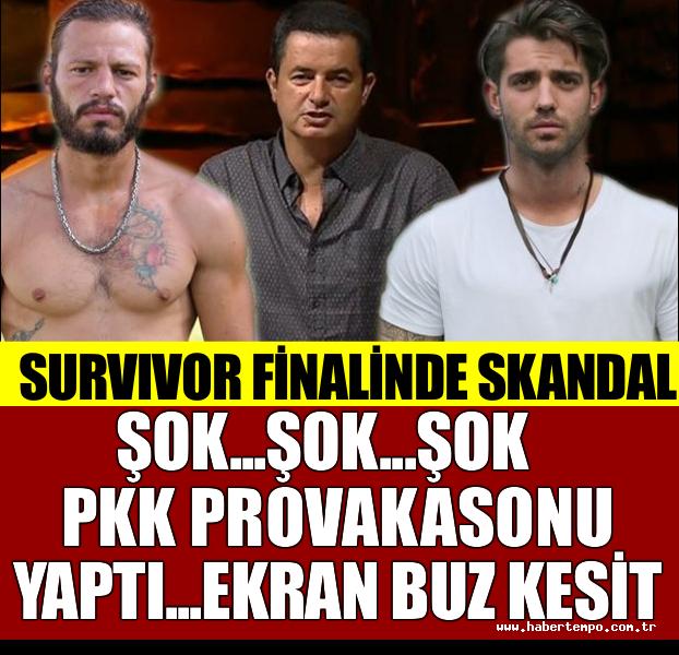 ŞOK... ŞOK... ŞOK... SURVIVOR FİNALİNDE PKK PROVAKASYONU YAPTI... EKRAN BUZ KESTİ!