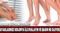 Ayaklarınızı kolonya ile ovalayın ve..!