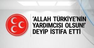 MHP'de kritik istifa ülkücü isim gitti!