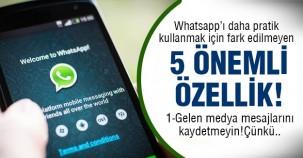 Whatsapp kulananlara 5 önemli ipucu!