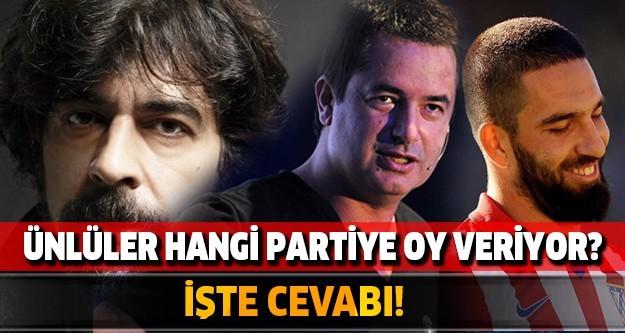 İŞTE ÜNLÜLERİN OY VERDİĞİ PARTİLER!