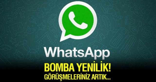 WhatsApp'ta bomba yenilik