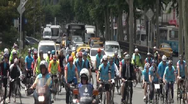 10 Bin Bisikletli Boğaziçi  Köprüsü'nden Geçti