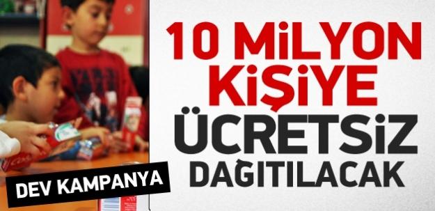 10 milyon kişiye ücretsiz dağıtılacak!