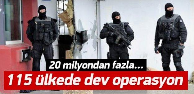 115 ülkede dev operasyon: 156 gözaltı