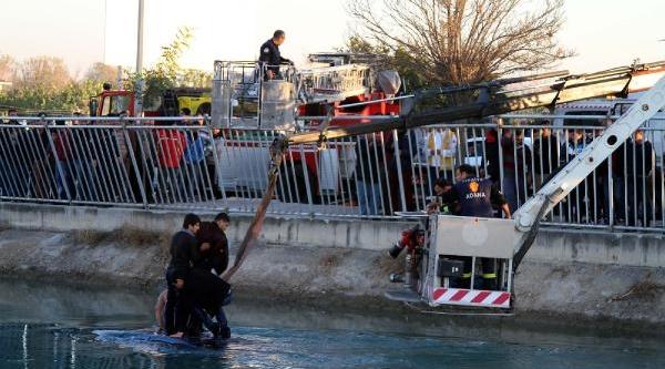 16 Yaşindaki Çocuk Otomobili Sulama Kanalina Uçurdu - Ek Fotoğraf