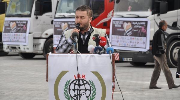 17 Insani Yardim Tir'i Suriye'ye Yola Çikti