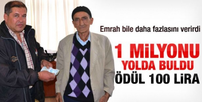 1 Milyonu Sahibine Verdi Ödül 100 Lira!