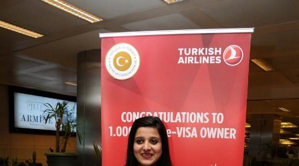 1 Milyonuncu E-vize Sahibi İstanbul'da