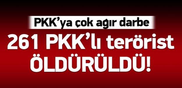 261 PKK'lının öldürüldüğü iddia edildi