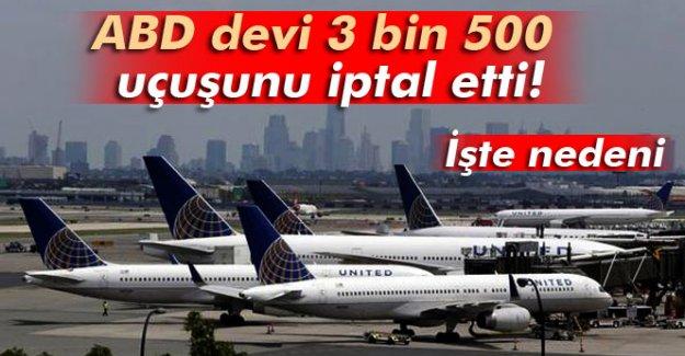 ABD devi 3 bin 500 uçuşunu iptal etti