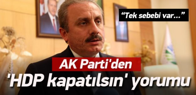 AK Parti'den 'HDP kapatılsın' yorumu