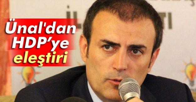 AK Parti Grup Başkan Vekili Mahir Ünal'dan HDP'ye eleştiri