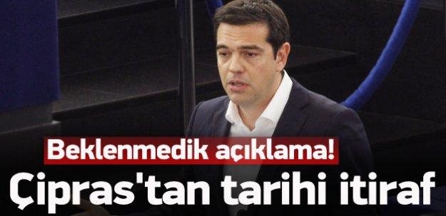 Aleksis Çipras'tan tarihi itiraf